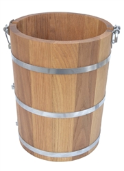 4 Quart Oak Wood Bucket For  Ice Cream Churn Country Freezer Parts White Mountain