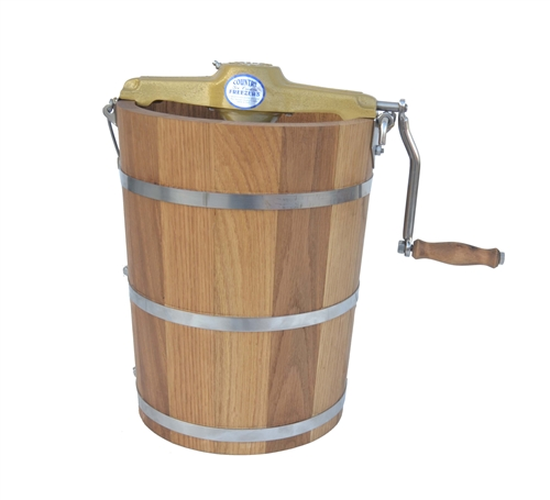 4 Quart Hand Crank Country Freezer Ice Cream Churn Made In