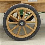 white oak wheels for country freezer ice cream machines with john deere engines
