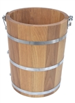 4 Quart Oak Wood Bucket Only No hardware For  Ice Cream Churn Country Freezer Parts White Mountain