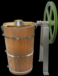 8 quart ice cream churn A frame w pulley