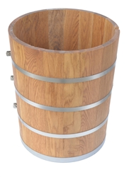White Oak Wood Tub or Poly insulated for 20 Quart Country Freezer