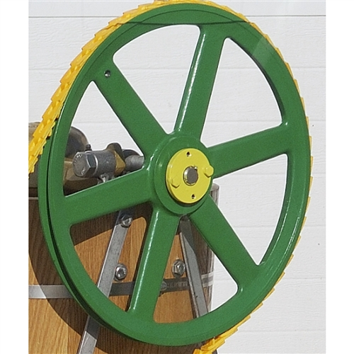 16 Inch Cast Pulley for 20 quart ice Cream Makers Country Freezers and will fit