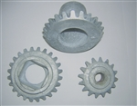 Set of three replacement gears for White Mountain® 20 Quart